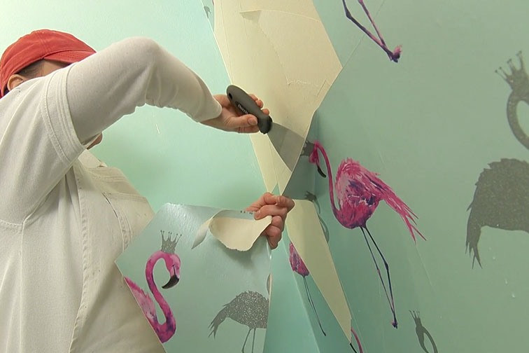 \don't forget to remove wallpaper before painting the room.